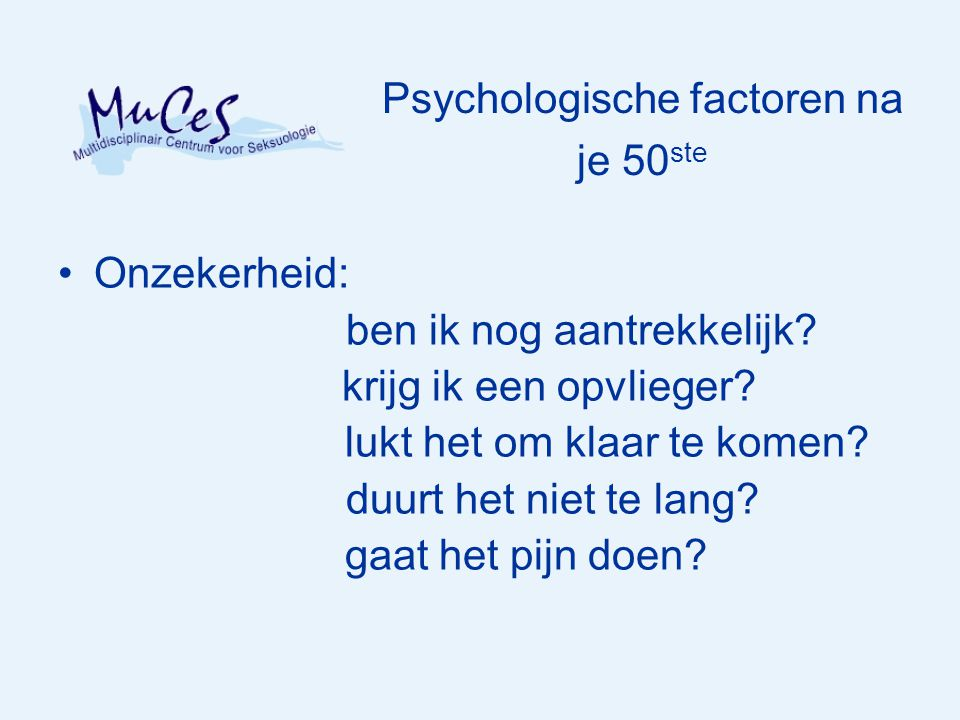Psychologische factoren na je 50ste