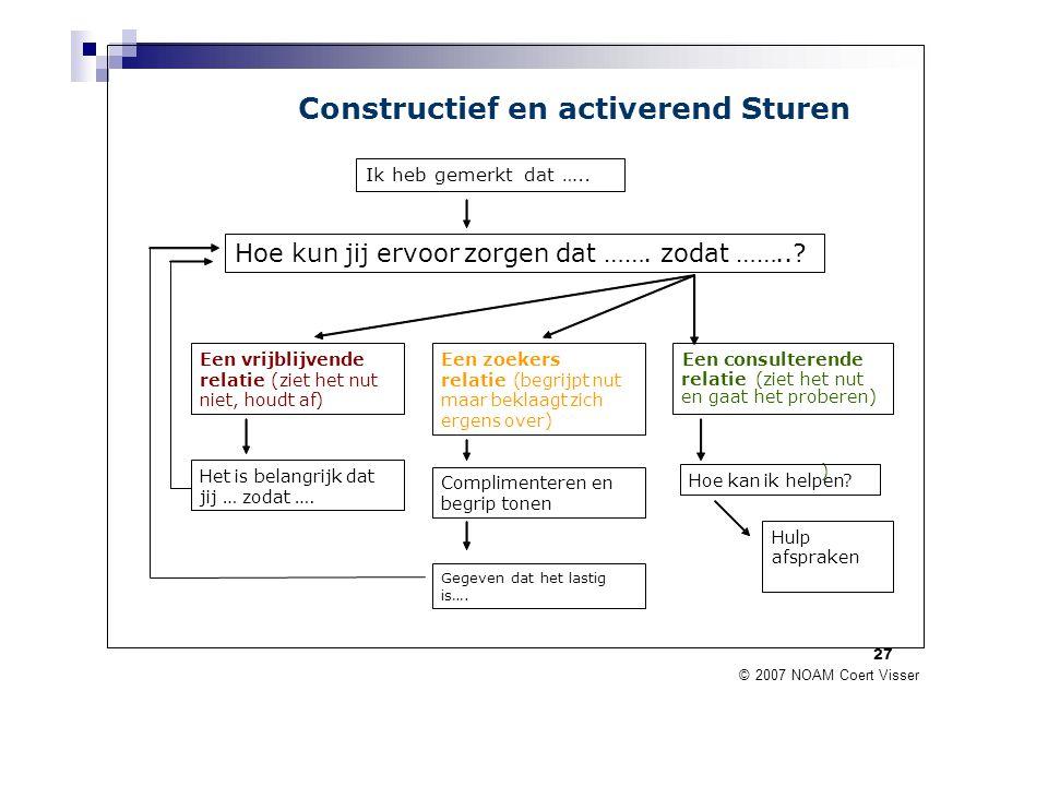 Constructief en activerend Sturen