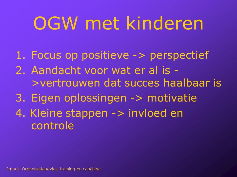OGW met kinderen Focus op positieve -> perspectief