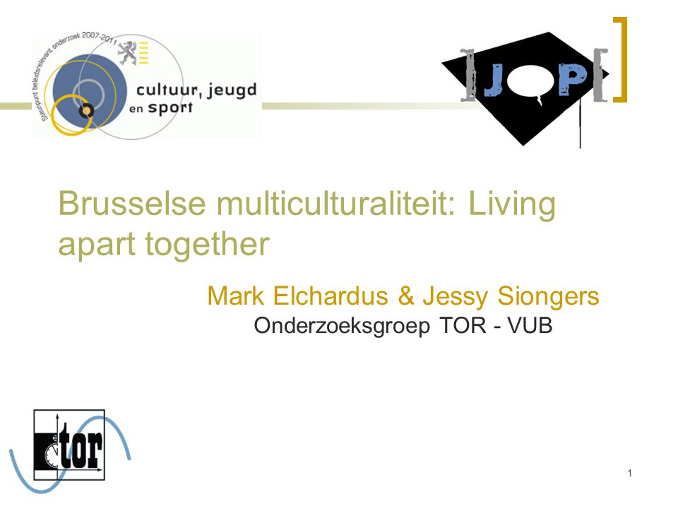 Brusselse multiculturaliteit: Living apart together