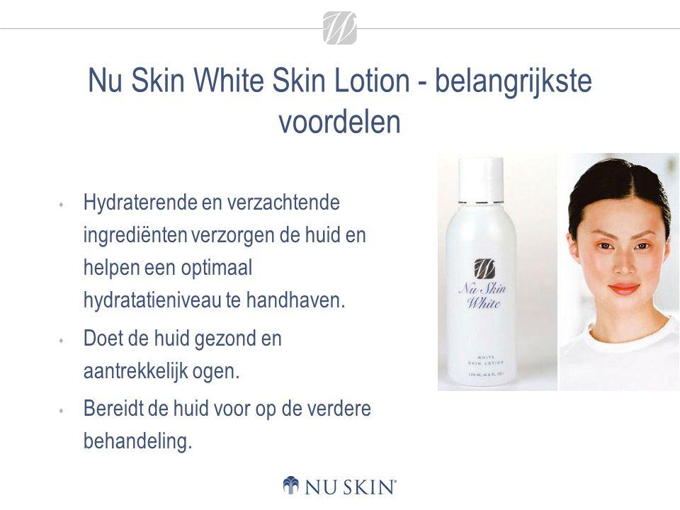 Nu Skin White Skin Lotion - belangrijkste voordelen