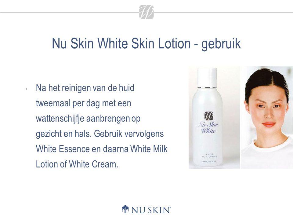 Nu Skin White Skin Lotion - gebruik