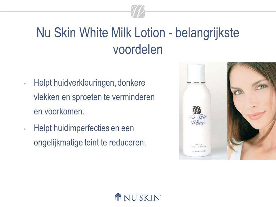 Nu Skin White Milk Lotion - belangrijkste voordelen