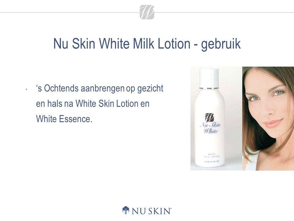 Nu Skin White Milk Lotion - gebruik