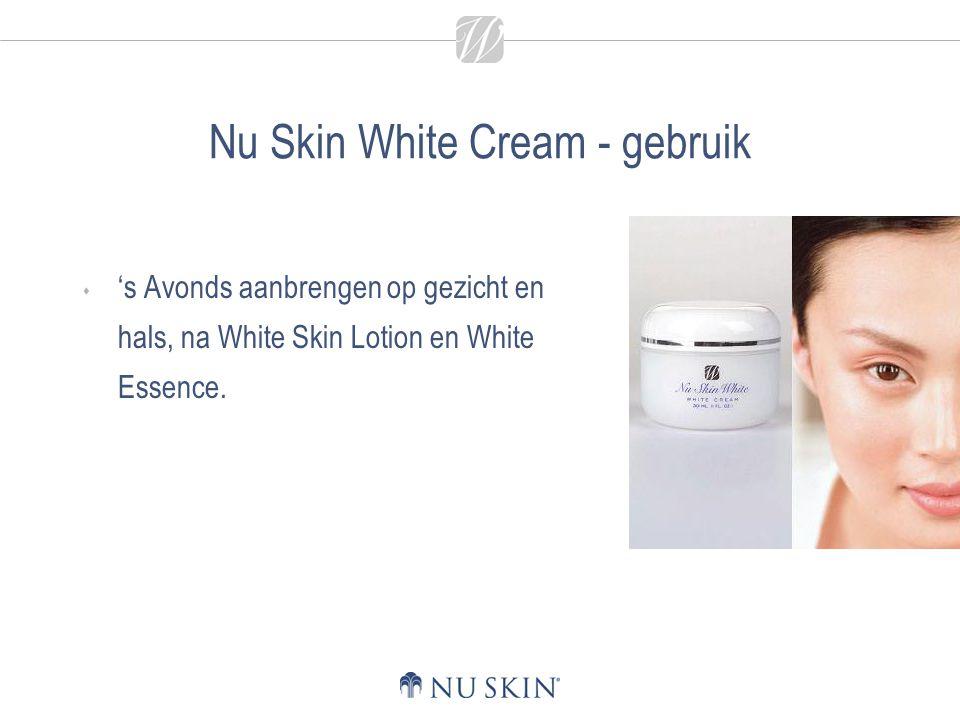 Nu Skin White Cream - gebruik