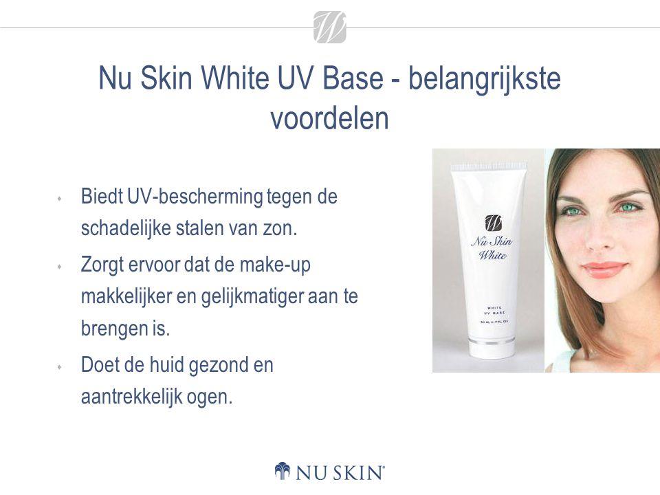 Nu Skin White UV Base - belangrijkste voordelen