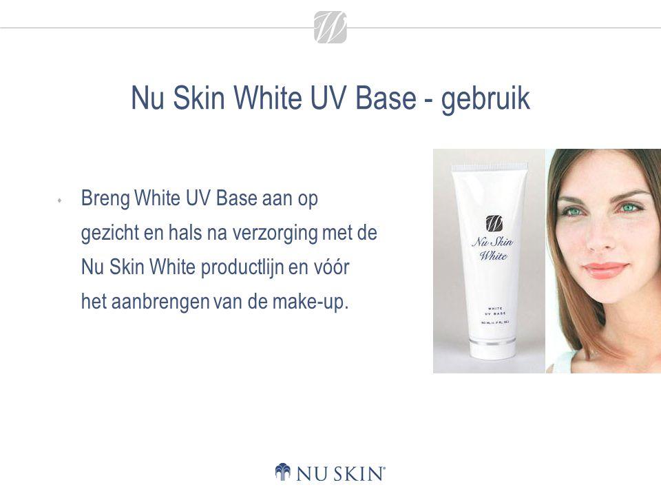 Nu Skin White UV Base - gebruik