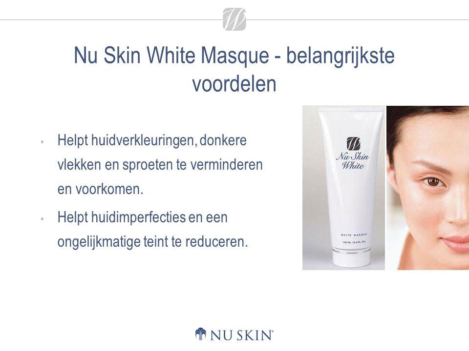 Nu Skin White Masque - belangrijkste voordelen