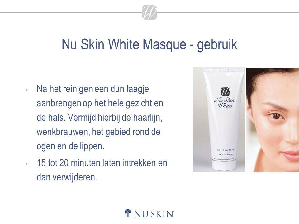 Nu Skin White Masque - gebruik