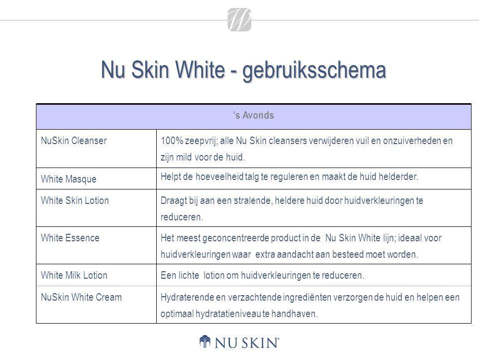 Nu Skin White - gebruiksschema