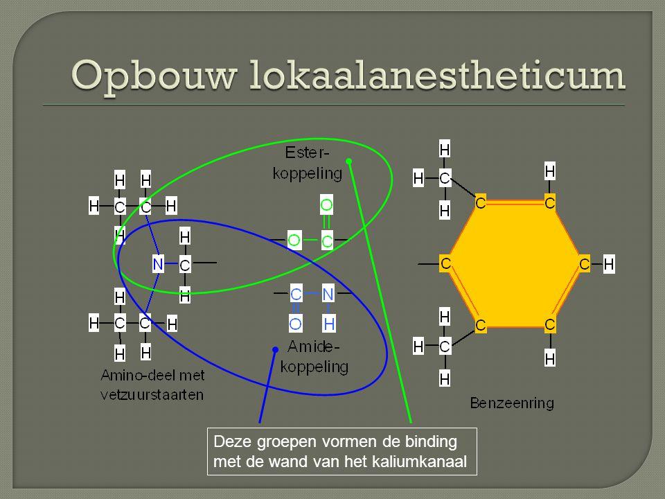 Opbouw lokaalanestheticum