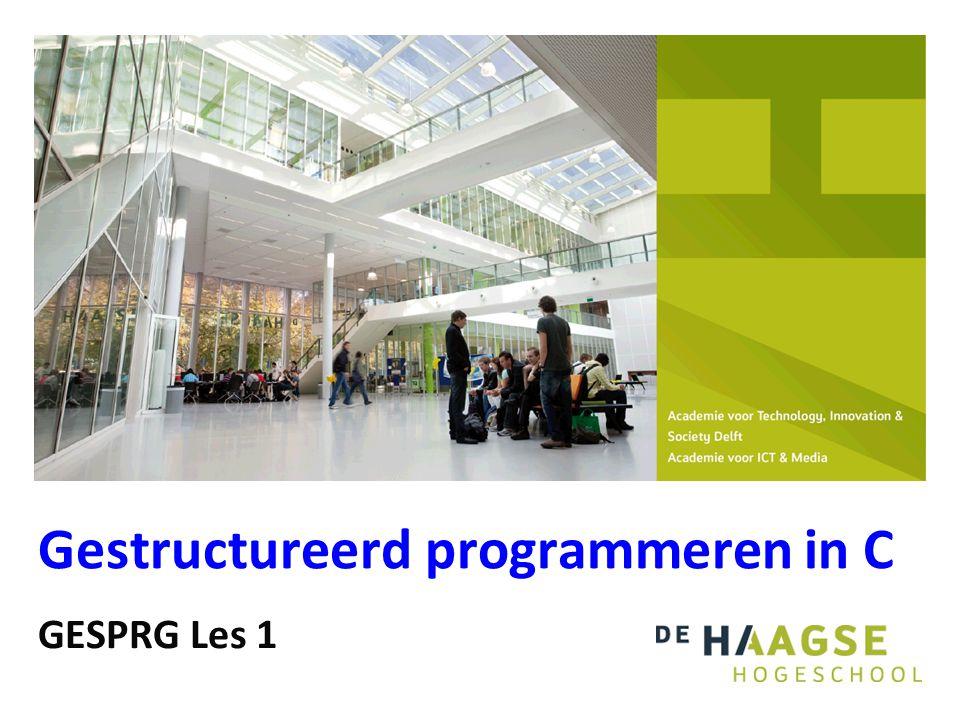 Gestructureerd programmeren in C