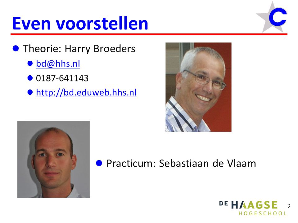 Even voorstellen Theorie: Harry Broeders