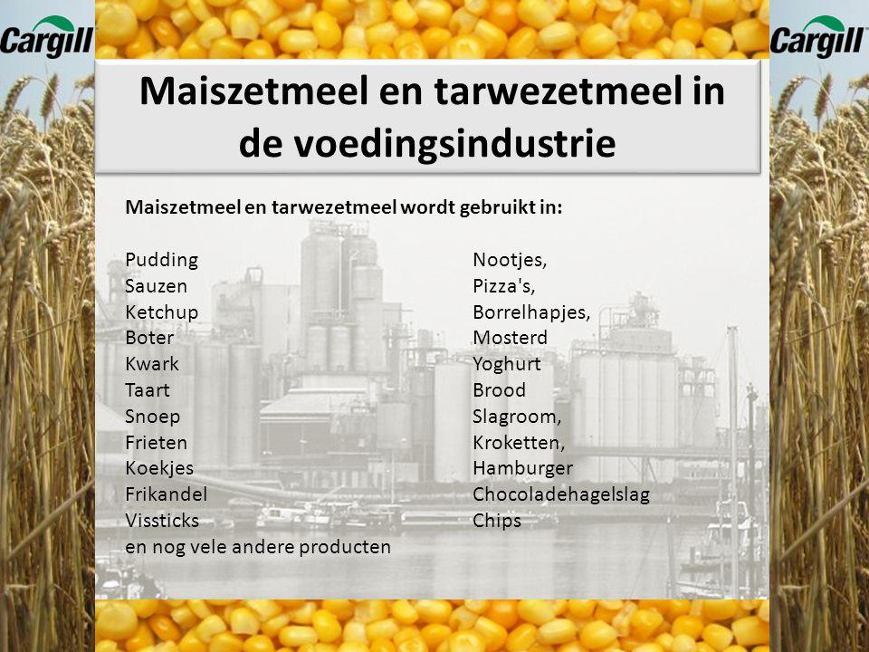 Maiszetmeel en tarwezetmeel in de voedingsindustrie