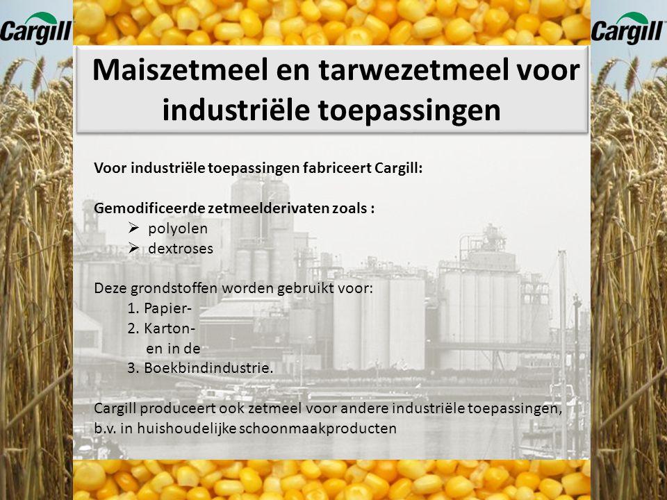 Maiszetmeel en tarwezetmeel voor industriële toepassingen