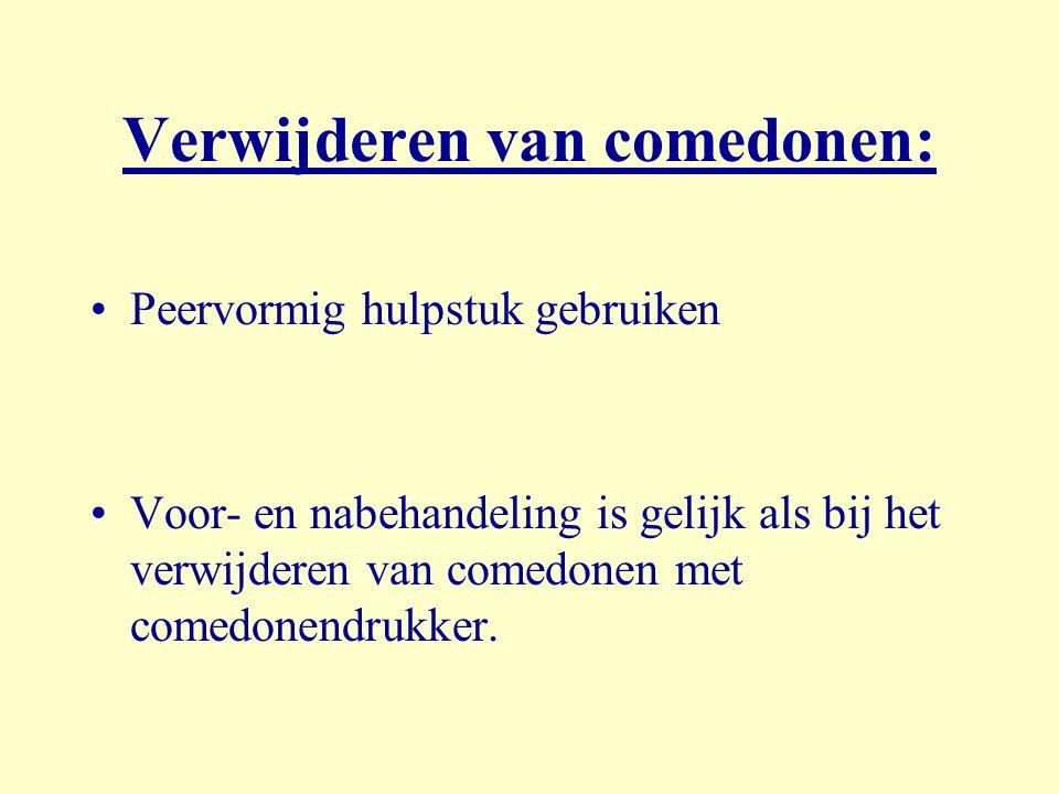 Verwijderen van comedonen: