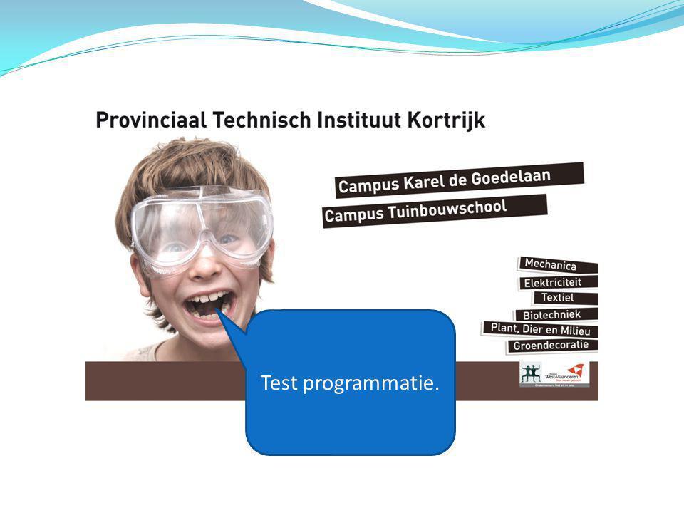 Test programmatie.