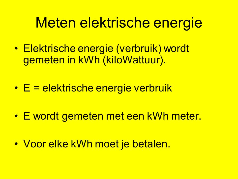 Meten elektrische energie
