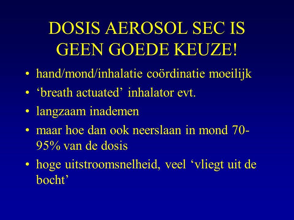 DOSIS AEROSOL SEC IS GEEN GOEDE KEUZE!