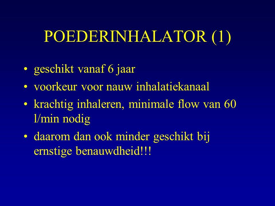 POEDERINHALATOR (1) geschikt vanaf 6 jaar