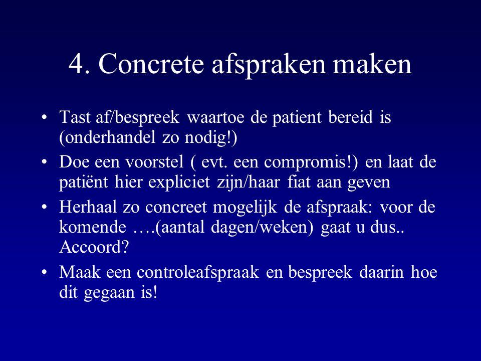 4. Concrete afspraken maken