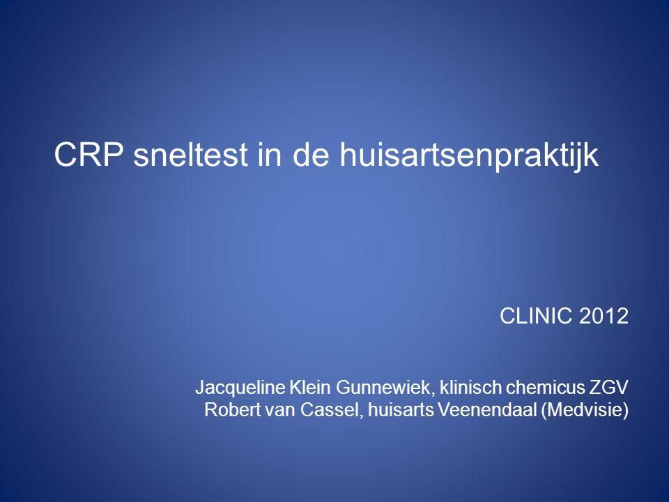 CRP sneltest in de huisartsenpraktijk