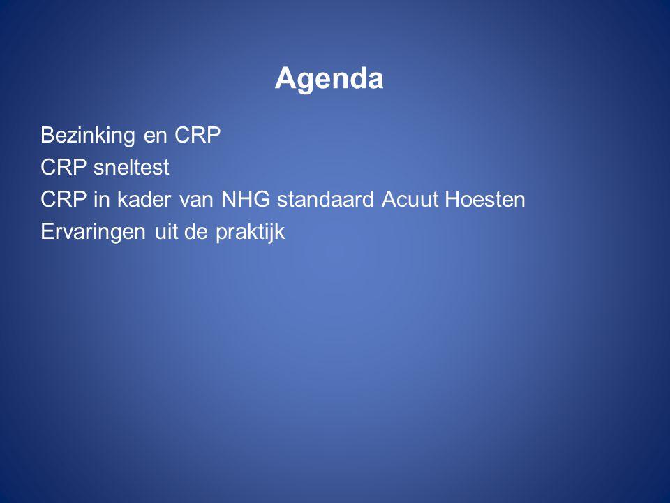 Agenda Bezinking en CRP CRP sneltest