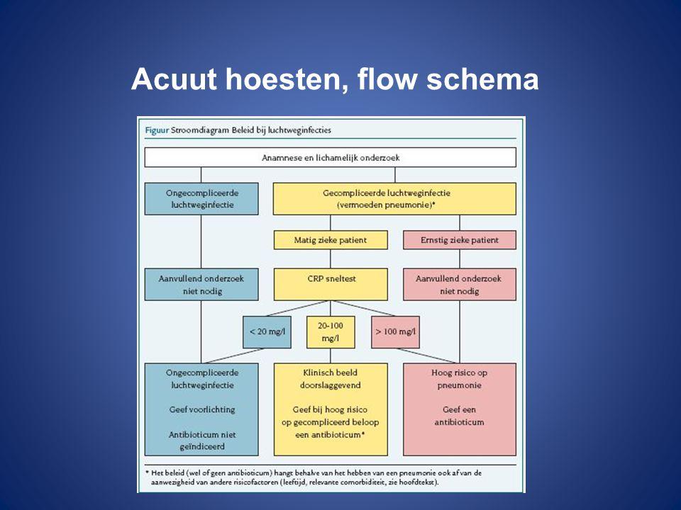 Acuut hoesten, flow schema
