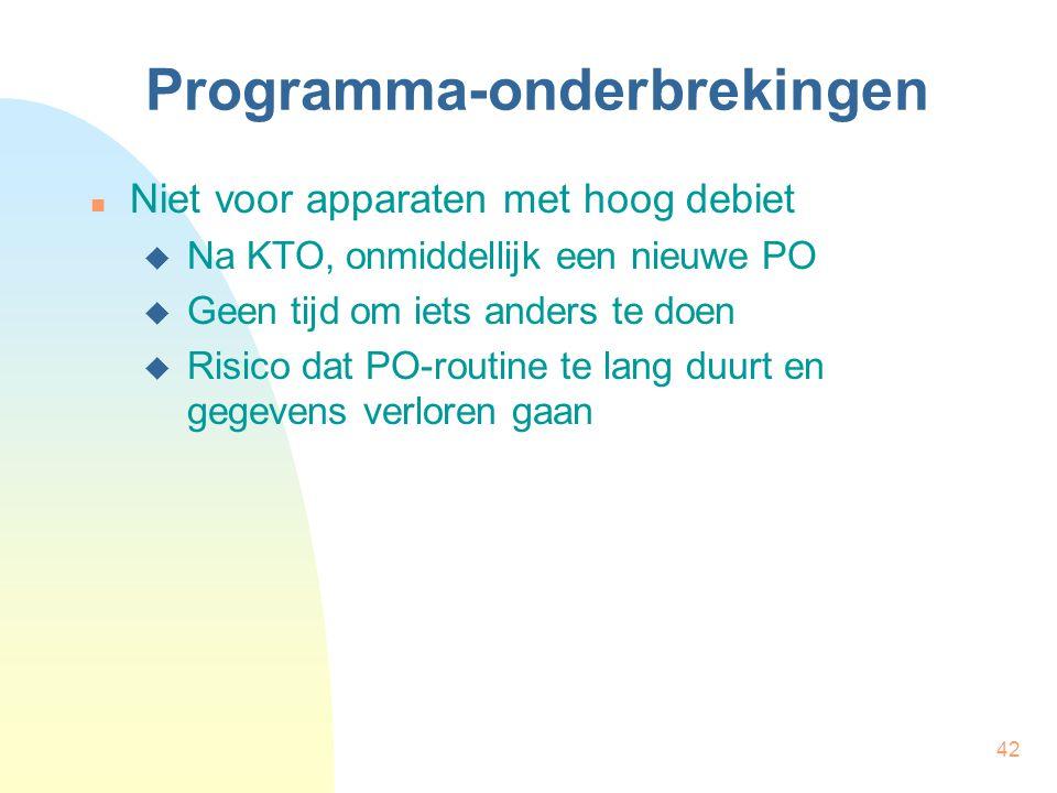 Programma-onderbrekingen
