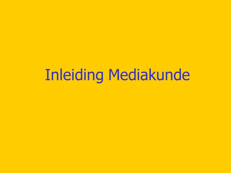 Inleiding Mediakunde