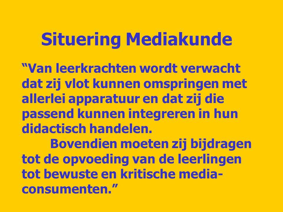 Situering Mediakunde