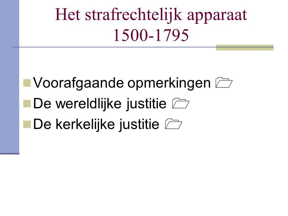 Het strafrechtelijk apparaat 1500-1795