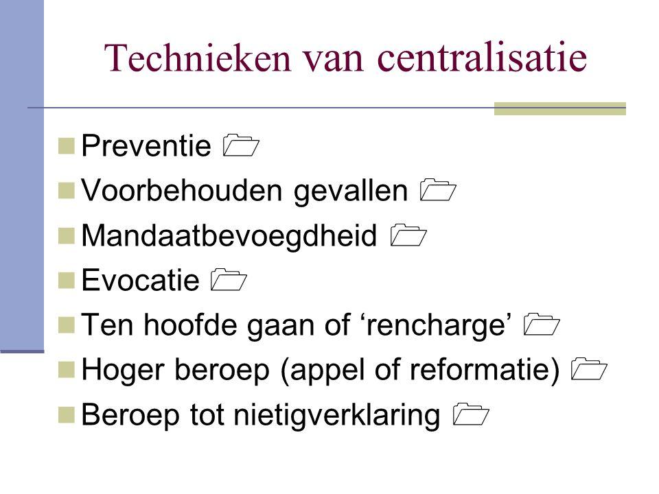 Technieken van centralisatie