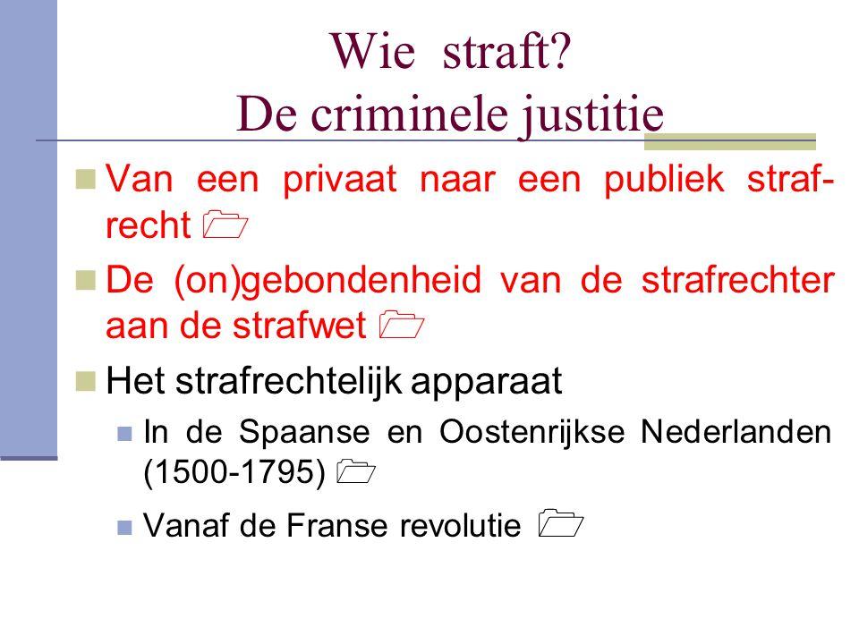 Wie straft De criminele justitie