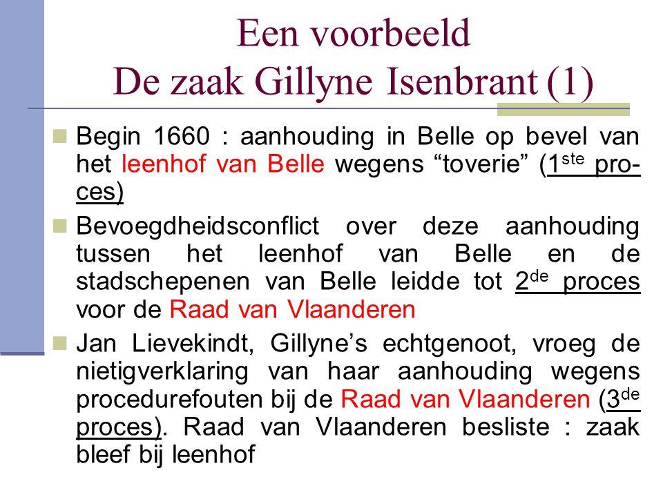 Een voorbeeld De zaak Gillyne Isenbrant (1)