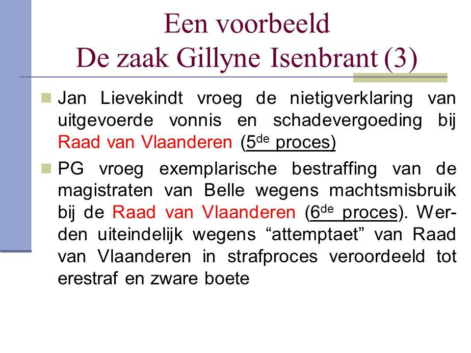 Een voorbeeld De zaak Gillyne Isenbrant (3)