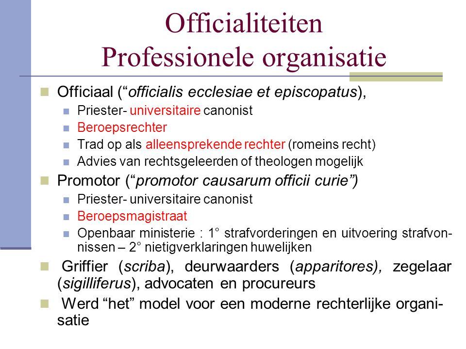 Officialiteiten Professionele organisatie