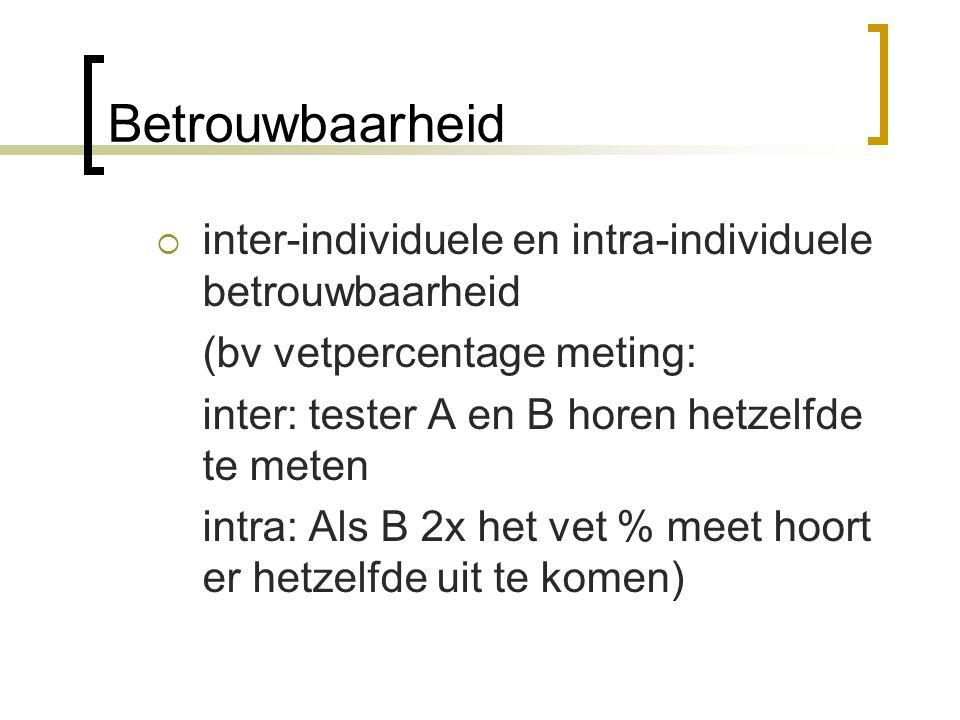 Betrouwbaarheid inter-individuele en intra-individuele betrouwbaarheid