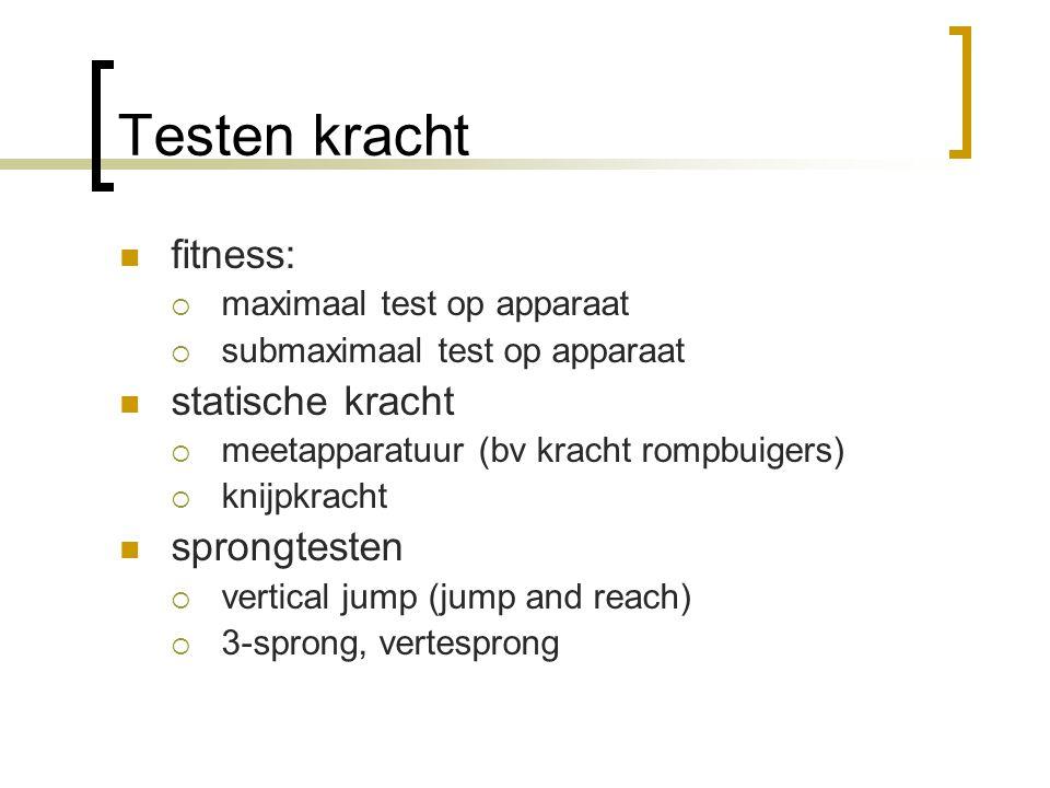 Testen kracht fitness: statische kracht sprongtesten