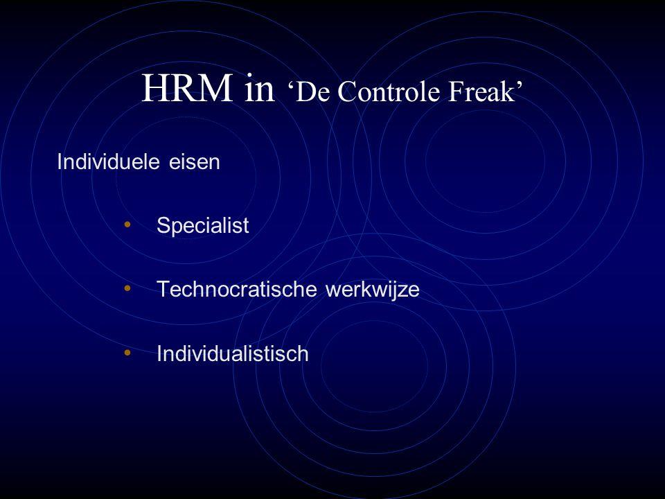 HRM in 'De Controle Freak'
