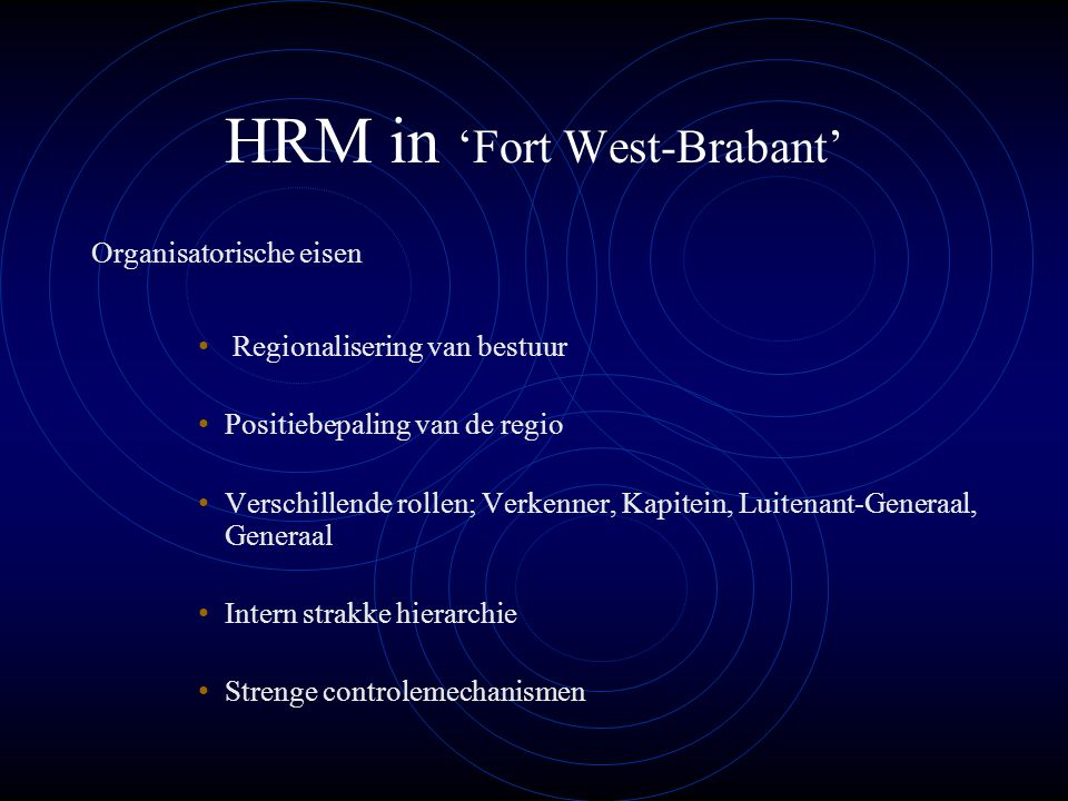 HRM in 'Fort West-Brabant'