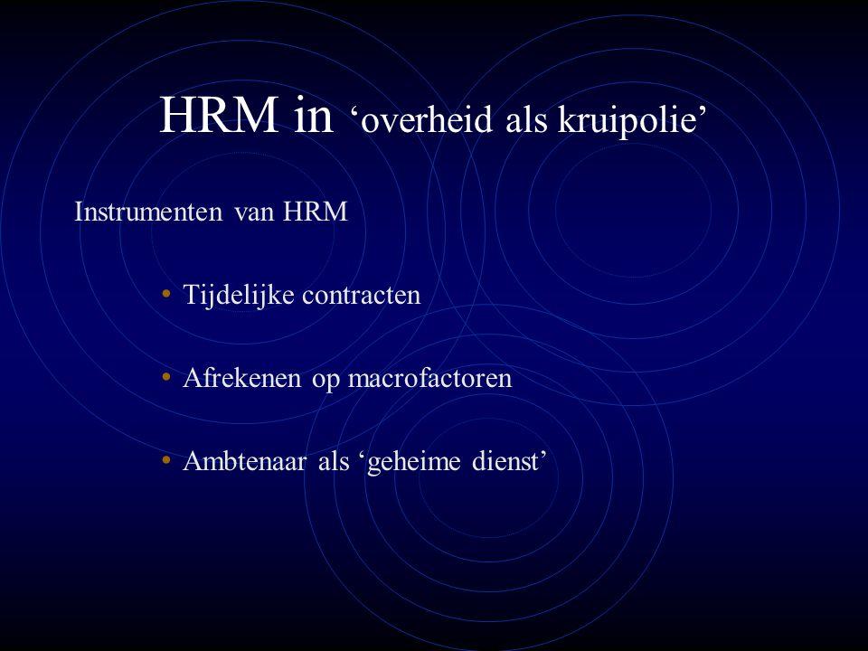 HRM in 'overheid als kruipolie'