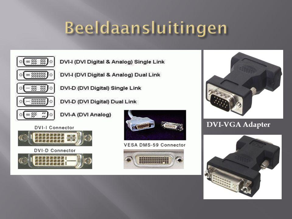Beeldaansluitingen DVI-VGA Adapter