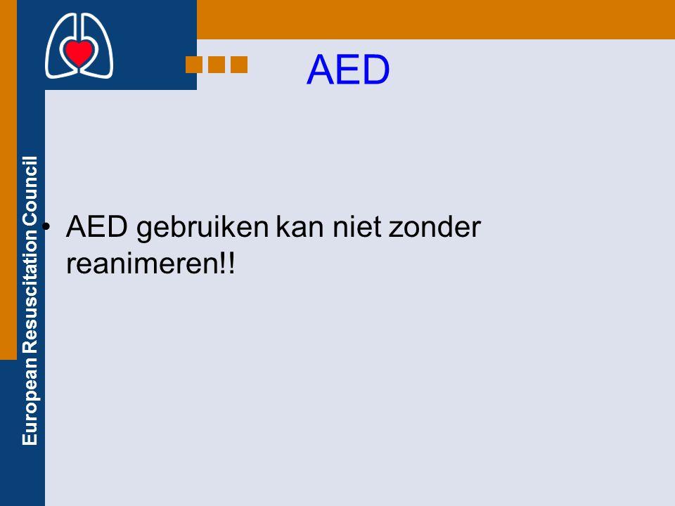AED AED gebruiken kan niet zonder reanimeren!!