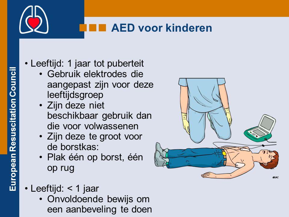 AED voor kinderen Leeftijd: 1 jaar tot puberteit