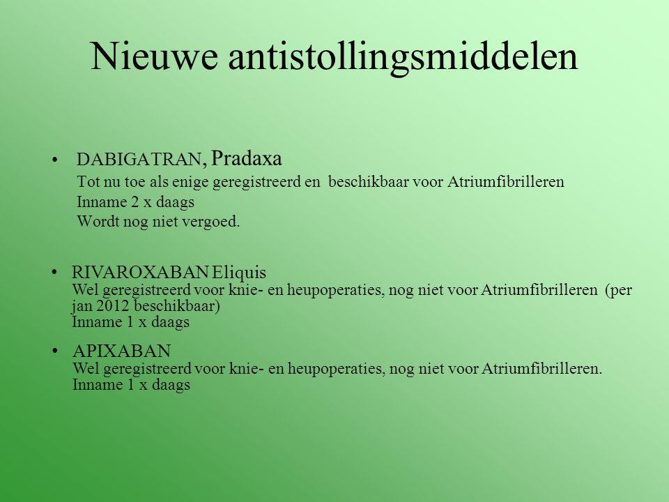Nieuwe antistollingsmiddelen