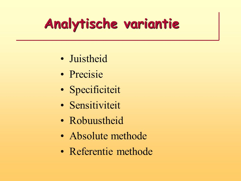 Analytische variantie