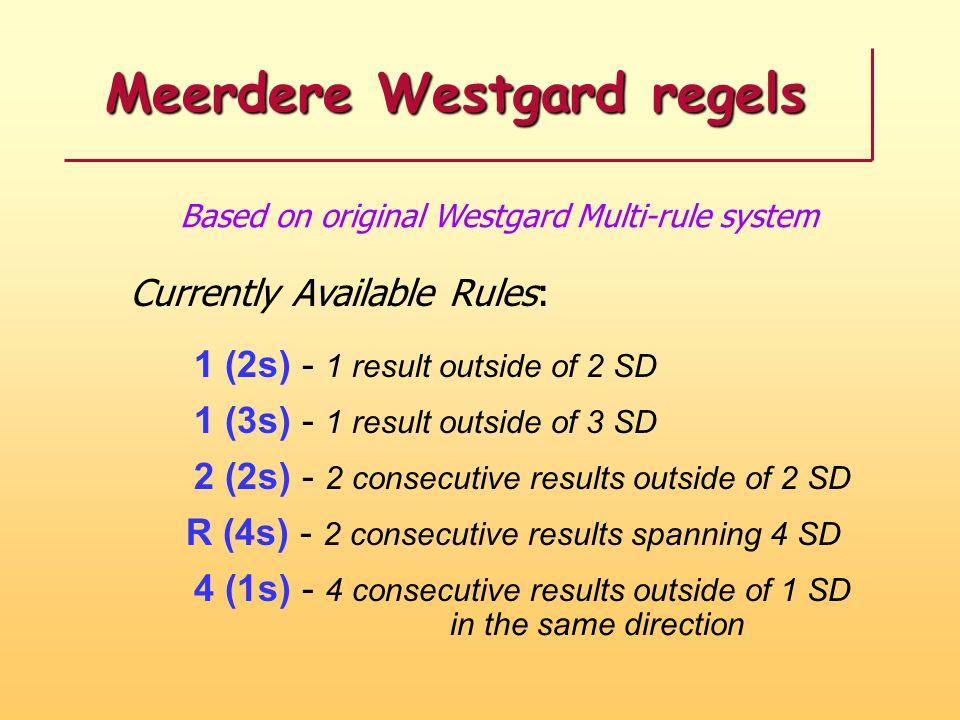 Meerdere Westgard regels