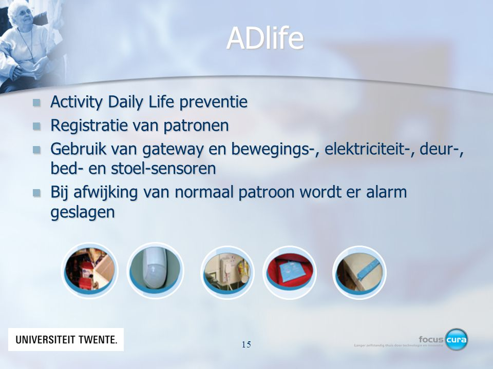 ADlife Activity Daily Life preventie Registratie van patronen