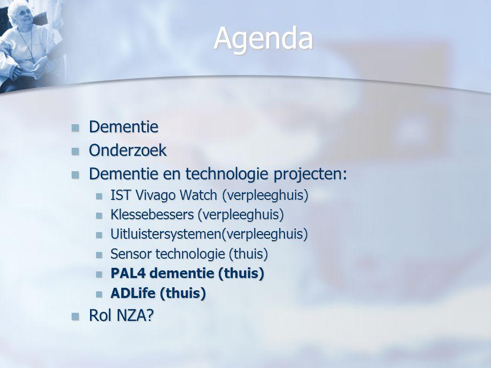 Agenda Dementie Onderzoek Dementie en technologie projecten: Rol NZA